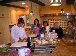 Picture of Linda Capeloto Sendowski Teaching Sephardic Cooking Class