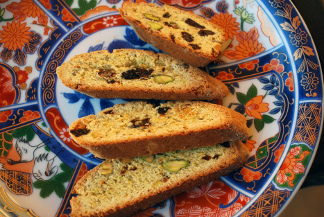 Picture of Pistachio Biscotti with Dried Cherries