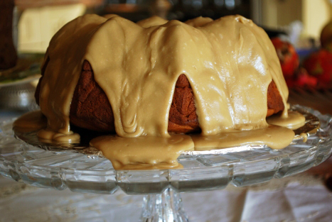 Picture of Garnet Yam Cake with Brown Sugar Icing