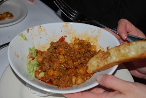 Picture of Moroccan spicy lamb chili at Le Marais