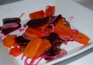 Picture of mixed beet salad at Le Marais