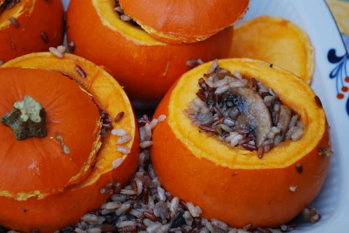 Picture of Stuffed Miniature Pumpkins