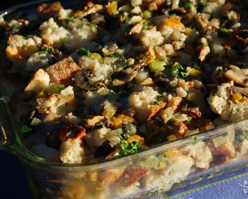 Picture of Stuffing with Cajun Sausage and Fennel