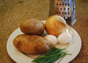 Picture of Chanukah Potato Latkes Ingredients