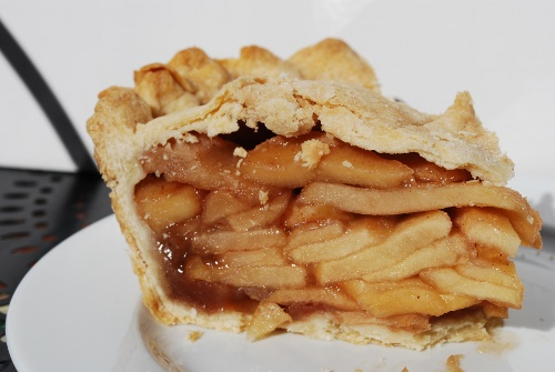 Picture of a Slice of Pink Lady Apple Pie