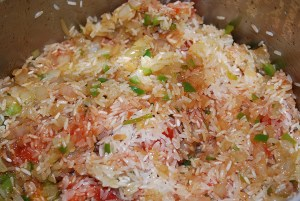Picture of Rice with Tomato and Onions aka Arroz