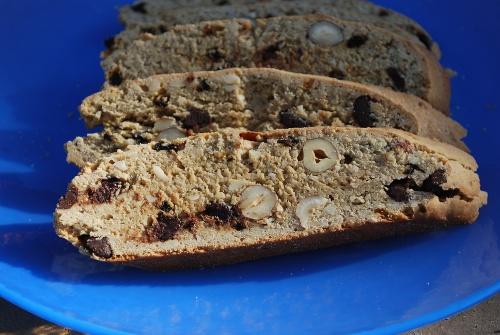 Picture of Hazelnut Biscotti with Chocolate Chips and Currants