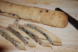 Picture of Hazelnut Biscotti with Chocolate Chips and Currants, Step 1