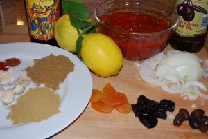 Picture of Ingredients for Lamb Tagine
