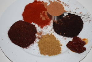 Picture of Spices for Seven Spice Turkey Chili