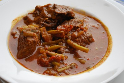 Picture of Green Bean and Tomato Stew aka Fasoulia con Tomat y Carne