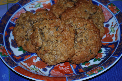 photo of oatmeal cookies