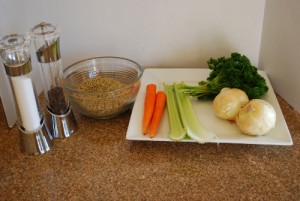 Picture of Ingredients for Weekday Lentil Soup