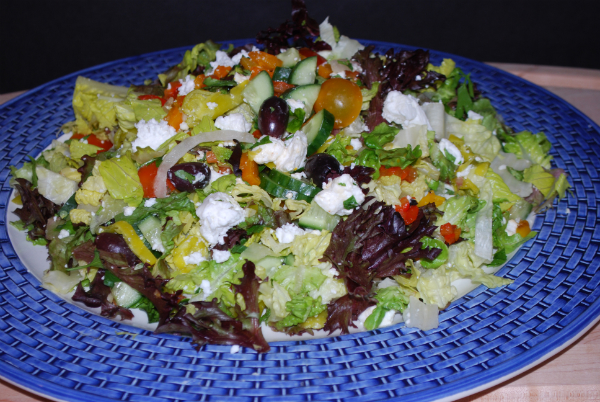 Greek Salad  wild rice w grilled vegies 063