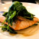 Salmon with Pea Tendrils