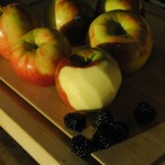 Honey Crisp Apple and Blackberry Pie