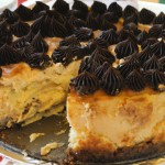 Caramel Cheesecake With Salted Caramel Chocolate Ganache