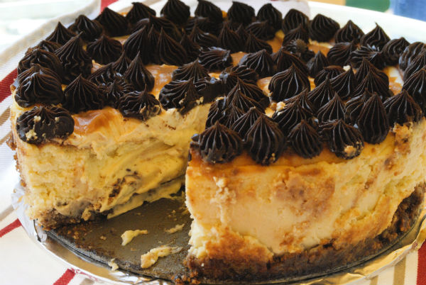 Chocolate Cheesecake With Caramel Ganache Recipes — Dishmaps