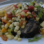 Grilled Sea Bass With Mango Corn Relish