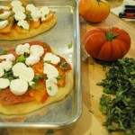Heirloom Tomato and Mozzarella Flat Bread
