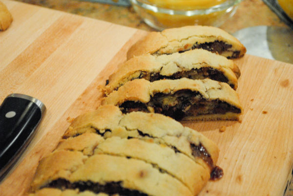 nutella cookies black cherry marzipan tart 042