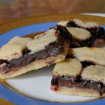 Chocolate Cherry Marzipan Bar Tarts