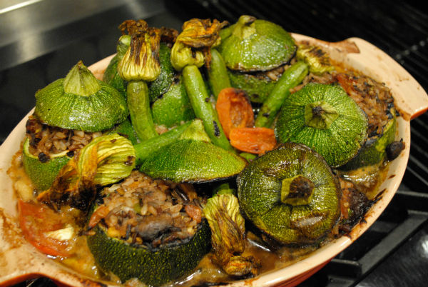 Juicing and stuffed zuchinni 035