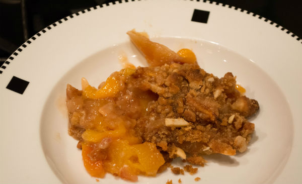 grilled vegiessmoked chickenpeach crisp peach pie graham crac 118
