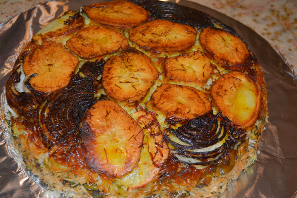 Challah borekas persian lima bean rice 042